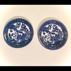 "5"" Kakusa Blue Willow Ware Bowls, Vintage 1945-51"